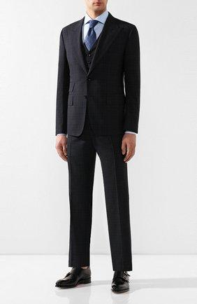 Мужской шерстяной костюм TOM FORD темно-синего цвета, арт. 545R06/31AL43 | Фото 1