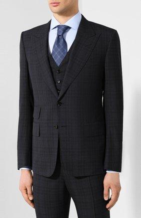 Мужской шерстяной костюм TOM FORD темно-синего цвета, арт. 545R06/31AL43 | Фото 2