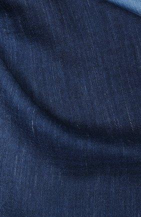 Мужской шарф из смеси кашемира и шелка LORO PIANA синего цвета, арт. FAI5127 | Фото 2