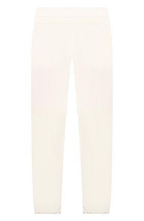 Детского хлопковые брюки LORO PIANA белого цвета, арт. FAI1205   Фото 2