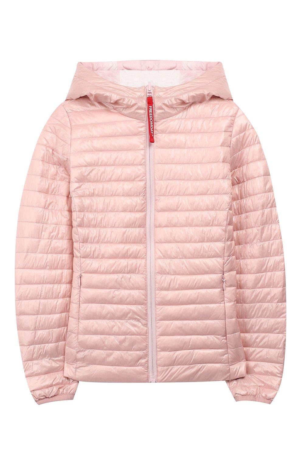 Двусторонняя куртка с капюшоном Freedomday розового цвета   Фото №3