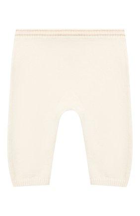 Детские кашемировые брюки LORO PIANA бежевого цвета, арт. FAE7158 | Фото 2