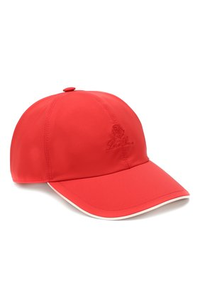 Детская бейсболка LORO PIANA красного цвета, арт. FAE8580 | Фото 1