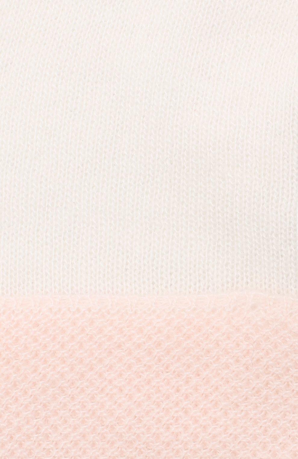 Детские кашемировые варежки LORO PIANA розового цвета, арт. FAG2015   Фото 3