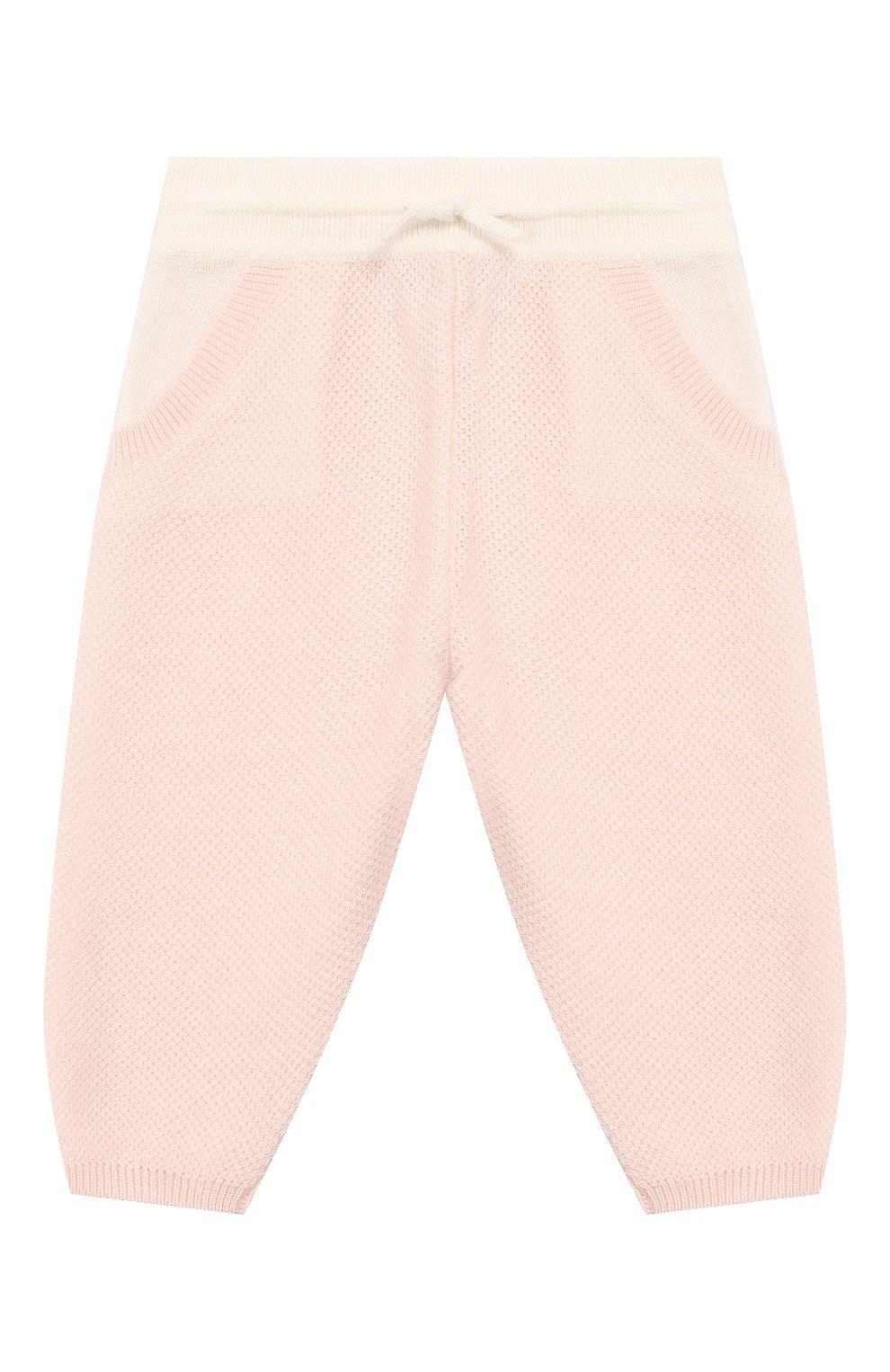Детские кашемировые брюки LORO PIANA розового цвета, арт. FAG2126   Фото 1