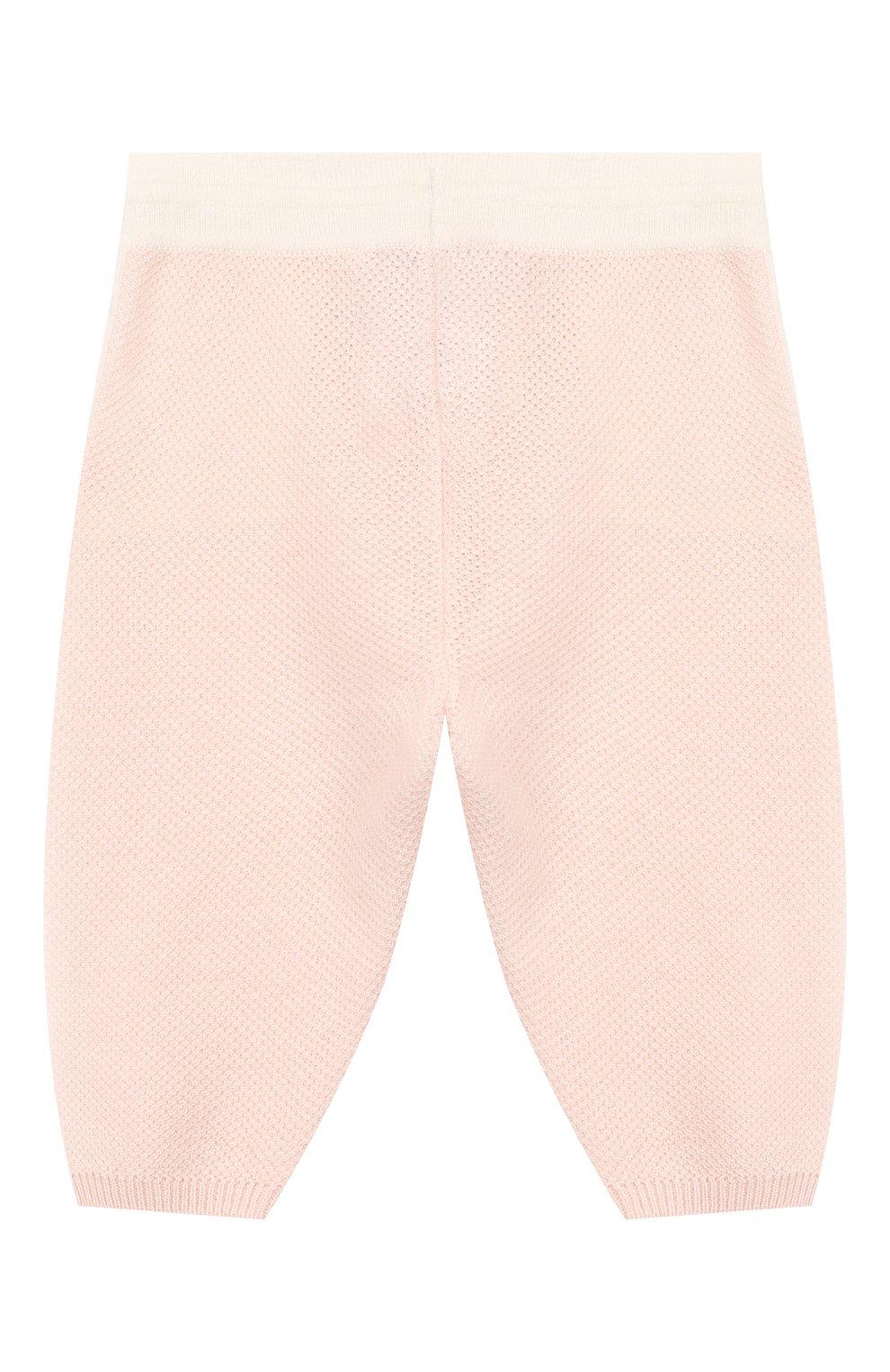 Детские кашемировые брюки LORO PIANA розового цвета, арт. FAG2126   Фото 2