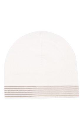 Детского хлопковая шапка LORO PIANA бежевого цвета, арт. FAG3948 | Фото 1