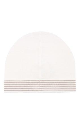Детского хлопковая шапка LORO PIANA бежевого цвета, арт. FAG3948 | Фото 2