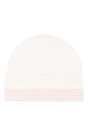 Детского хлопковая шапка LORO PIANA розового цвета, арт. FAG3948 | Фото 1