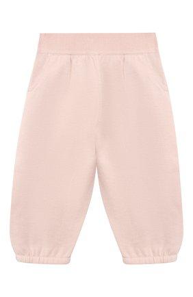Детские хлопковые брюки LORO PIANA розового цвета, арт. FAI4921 | Фото 1