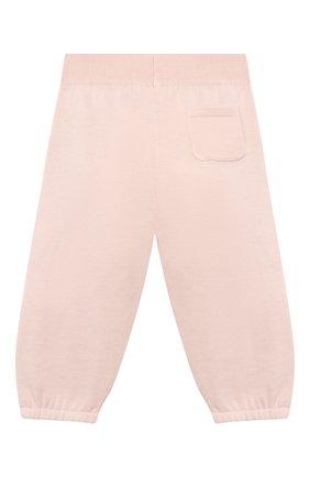 Детские хлопковые брюки LORO PIANA розового цвета, арт. FAI4921 | Фото 2
