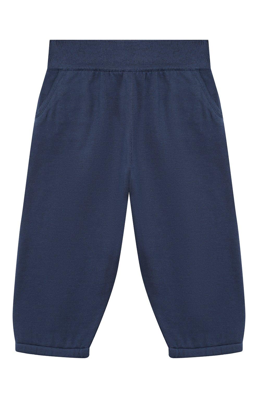 Детские хлопковые брюки LORO PIANA темно-синего цвета, арт. FAI4921   Фото 1