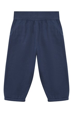 Детские хлопковые брюки LORO PIANA темно-синего цвета, арт. FAI4921 | Фото 1