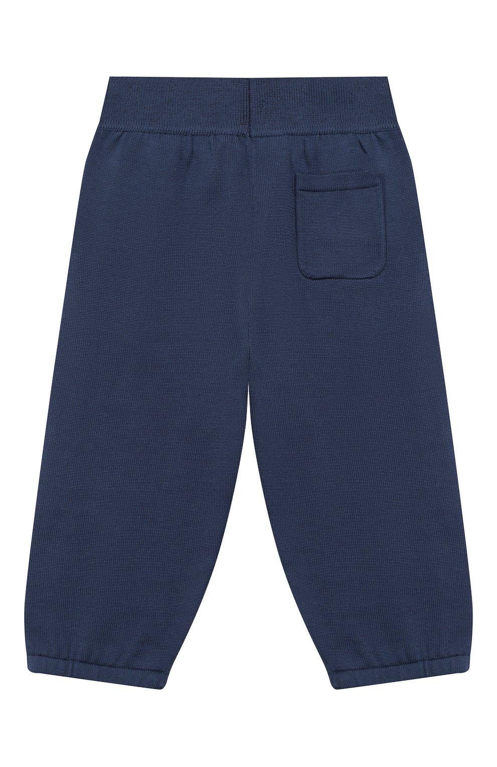 Детские хлопковые брюки LORO PIANA темно-синего цвета, арт. FAI4921   Фото 2