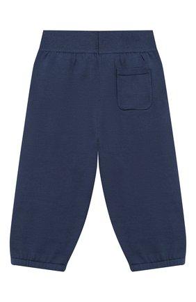 Детские хлопковые брюки LORO PIANA темно-синего цвета, арт. FAI4921 | Фото 2