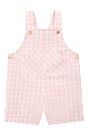 Детский хлопковый комбинезон LORO PIANA розового цвета, арт. FAI5435 | Фото 1