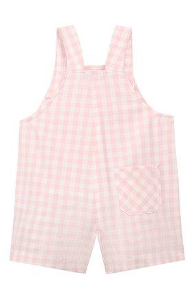 Детский хлопковый комбинезон LORO PIANA розового цвета, арт. FAI5435 | Фото 2