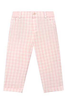 Детские хлопковые брюки LORO PIANA розового цвета, арт. FAI5437 | Фото 1