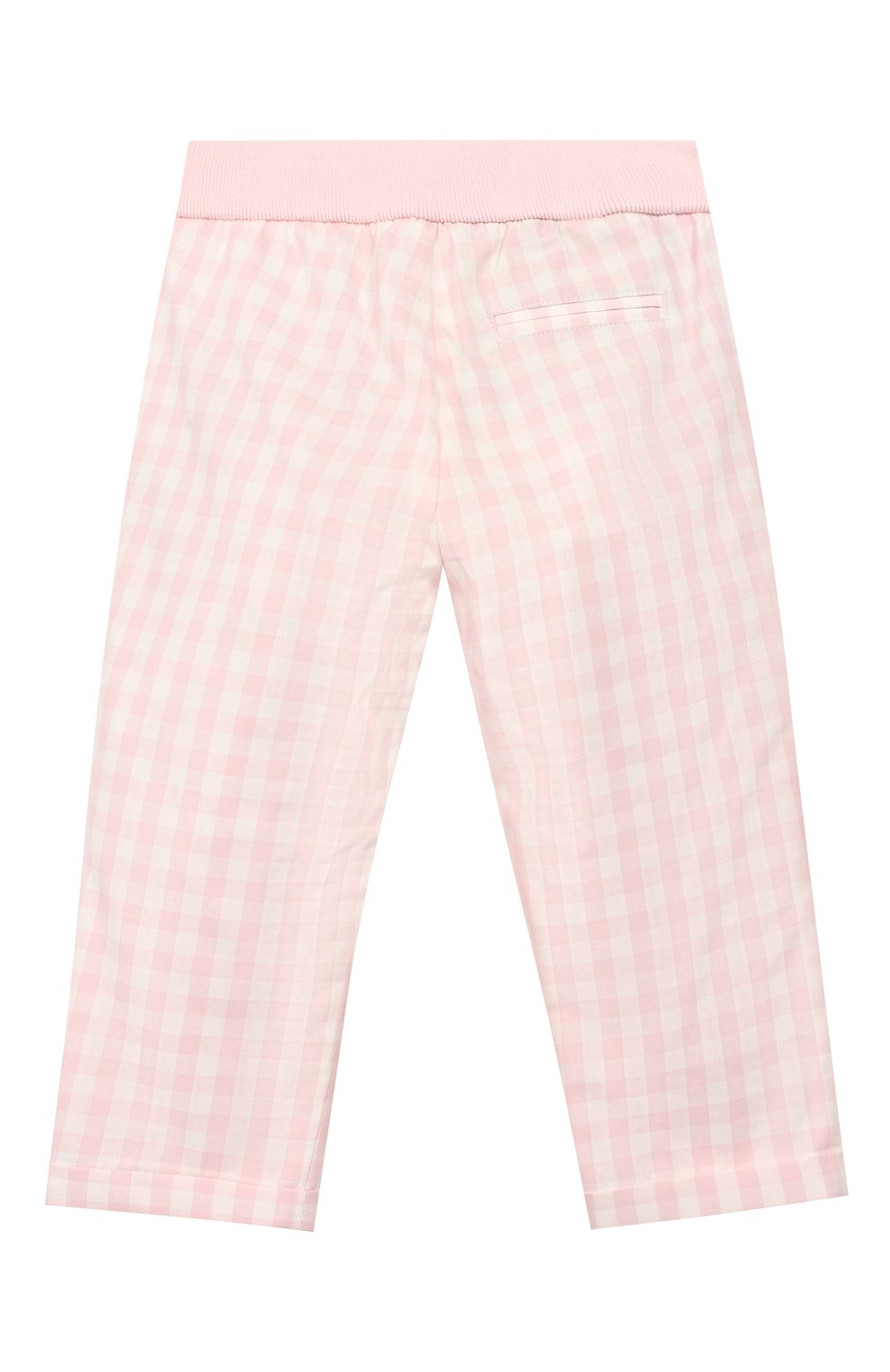 Детские хлопковые брюки LORO PIANA розового цвета, арт. FAI5437 | Фото 2