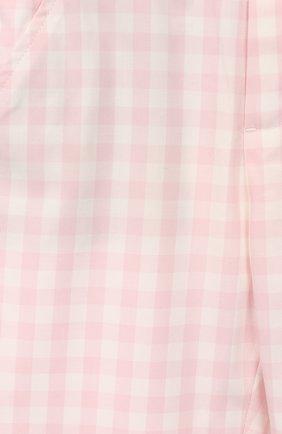 Детские хлопковые брюки LORO PIANA розового цвета, арт. FAI5437 | Фото 3
