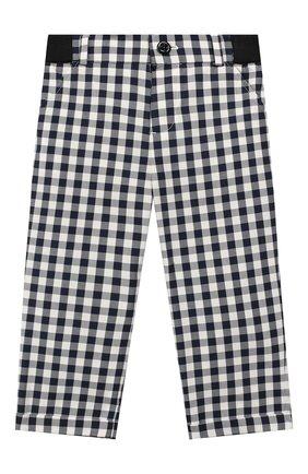 Детские хлопковые брюки LORO PIANA синего цвета, арт. FAI5437 | Фото 1
