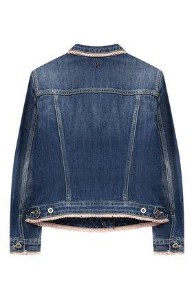 Детского джинсовая куртка DONDUP голубого цвета, арт. YJ087A/DS0107B/V04 | Фото 2