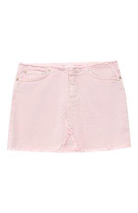 Детская джинсовая мини-юбка DONDUP розового цвета, арт. YG100/BS0009B/V75 | Фото 1