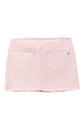 Детская джинсовая мини-юбка DONDUP розового цвета, арт. YG100/BS0009B/V75 | Фото 2