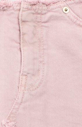 Детская джинсовая мини-юбка DONDUP розового цвета, арт. YG100/BS0009B/V75 | Фото 3 (Материал внешний: Хлопок; Статус проверки: Проверено; Ростовка одежда: 12 лет | 152 см, 10 - 11 лет | 140 - 146см, 13 - 15 лет | 158 см)