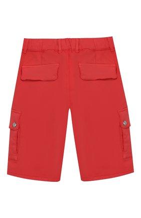 Детские хлопковые шорты BALMAIN красного цвета, арт. 6K6649/KD130/4-10 | Фото 2