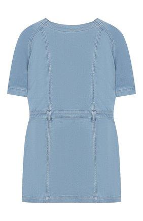 Детское джинсовое мини-платье BALMAIN голубого цвета, арт. 6K1161/KB130/4-10 | Фото 2