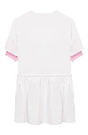 Детское хлопковое платье SIMONETTA розового цвета, арт. 1K1781/KA050/10-14+ | Фото 2