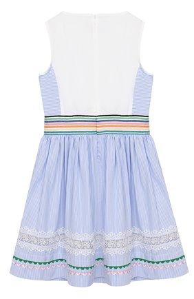 Детское хлопковое платье SIMONETTA голубого цвета, арт. 1K1322/KB080/5-8 | Фото 2