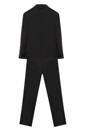 Детский шерстяной костюм из пиджака и брюк DOLCE & GABBANA черного цвета, арт. L41U49/FUBBG/8-14 | Фото 2