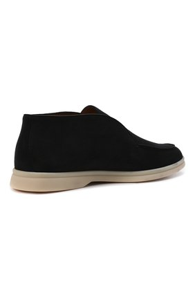 Женские замшевые ботинки open walk LORO PIANA темно-серого цвета, арт. FAE9959 | Фото 5