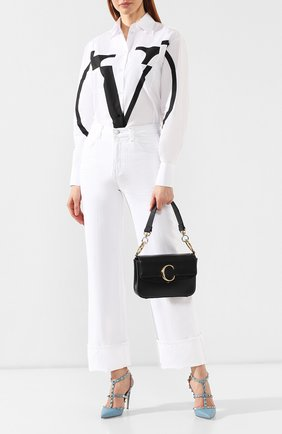 Женская сумка chloé c small CHLOÉ черного цвета, арт. CHC19SS191A37   Фото 2