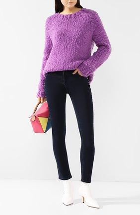 Женские джинсы-скинни VALENTINO темно-синего цвета, арт. RB3DD07H45L | Фото 2