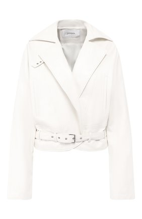 Кожаная куртка Jitrois белый | Фото №1