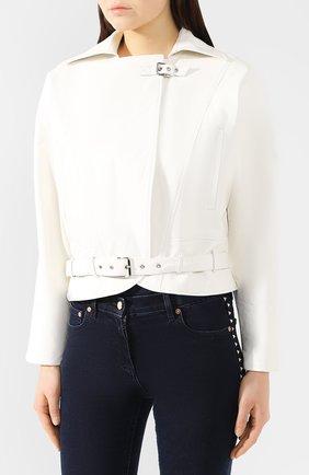 Кожаная куртка Jitrois белый | Фото №3
