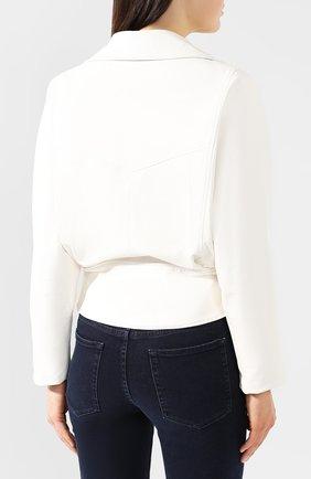 Кожаная куртка Jitrois белый | Фото №4