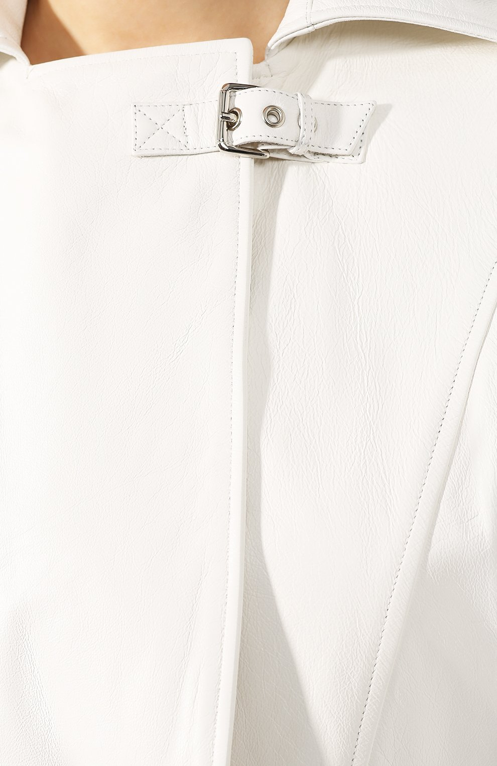 Кожаная куртка Jitrois белый | Фото №5