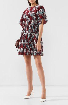 Шелковое платье Valentino бордовое | Фото №2
