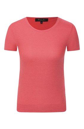 Женский топ из смеси шелка и хлопка LORO PIANA розового цвета, арт. FAG1725   Фото 1