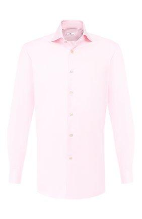 Мужская хлопковая сорочка KITON розового цвета, арт. UCIH0693010 | Фото 1