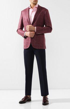 Мужская хлопковая сорочка KITON розового цвета, арт. UCIH0693010 | Фото 2