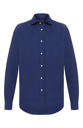 Мужская хлопковая рубашка RALPH LAUREN синего цвета, арт. 790734854 | Фото 1