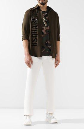 Мужские хлопковые брюки RALPH LAUREN белого цвета, арт. 790738323 | Фото 2