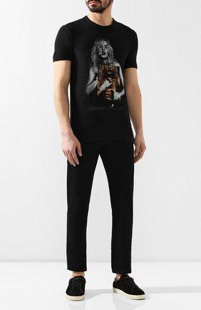 Мужская хлопковая футболка RH45 черного цвета, арт. 26HS65 | Фото 2 (Материал внешний: Хлопок; Длина (для топов): Стандартные; Рукава: Короткие; Принт: С принтом; Стили: Панк)