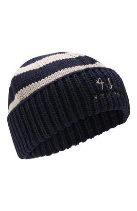 Мужская хлопковая шапка ACNE STUDIOS темно-синего цвета, арт. C40022 | Фото 1