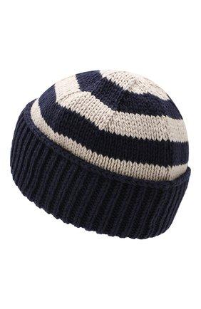 Мужская хлопковая шапка ACNE STUDIOS темно-синего цвета, арт. C40022 | Фото 2